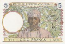 B A O 5 Francs Africaine - 27-04-1939 - Série O.6485