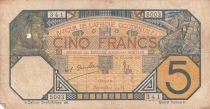 B A O 5 Francs Lion - Dakar - 1919 à 1932