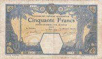 B A O 50 Francs Eléphants, navire - 14-03-1929 - Série E.213