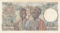 B A O 5000 Francs France et femmes africaines - 1950 Série P.248