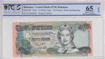 Bahamas 0.5 Dollar Elizabeth II - Marché - 2001 - PCGS 65 OPQ