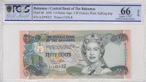 Bahamas 0.5 Dollar Elizabeth II - Market - 2001 - PCGS 66 OPQ