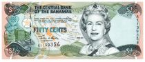 Bahamas 0.5 Dollar Elizabeth II - Marché - 2001