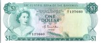 Bahamas 1 Dollar, Elizabeth II - Poissons - 1974