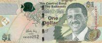 Bahamas 1 Dollar Lynden O\'Pindling - Police Band - 2015