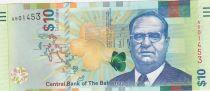 Bahamas 10 Dollars Sir Stafford Sands - Headlight - 2016 - UNC - P.79