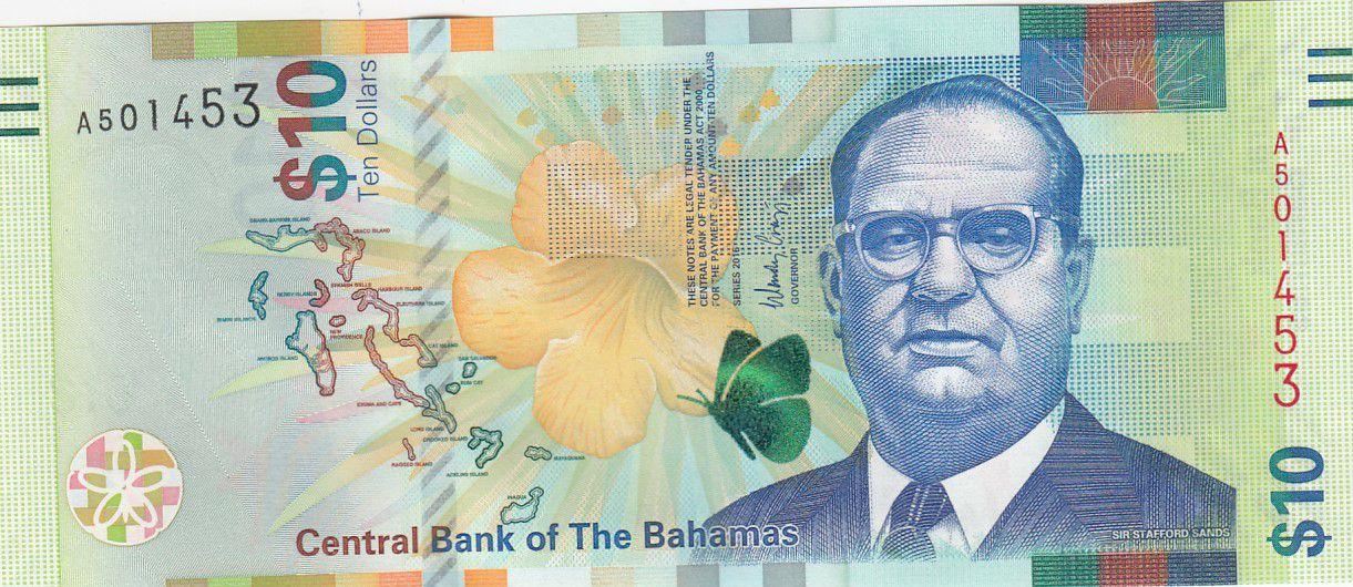 Bahamas 10 Dollars Sir Stafford Sands - Phare - 2016 - P.79 - Neuf