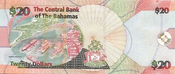 Bahamas 20 Dollars Milo B. Butler - Harbor, boats - 2006