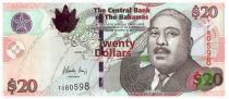 Bahamas 20 Dollars Milo B. Butler - Harbor, boats