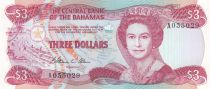 Bahamas 3 Dollars Elizabeth II, beach - Regatta - 1974 (1984) - P.44 - UNC