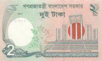 Bangladesh 2 Taka M. Rahman - Monument - 2011