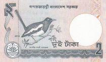 Bangladesh 2 Taka Monument - Magpie-robin