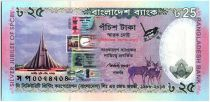 Bangladesh 25 Taka Jubilé du SPCBL - 2013 en folder