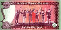 Bangladesh 40 Taka M. Rahman - 40 ans de la Victoire 1971-2011 en folder