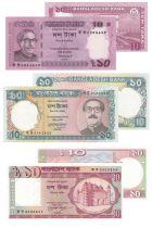 Bangladesh Série de 3 billets du Bangladesh - (1982-2012)