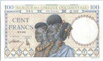 Banque de l´Afrique Occidentale 100 Francs Femmes Foulahs - 1941