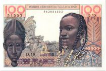 Banque de l´Afrique Occidentale 100 Francs Masque - 1956 - D.18 54552