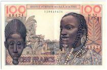 Banque de l´Afrique Occidentale 100 Francs Masque - 1957