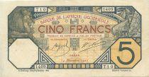 Banque de l´Afrique Occidentale 5 Francs Lion - Dakar - 1922