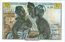 Banque de l´Afrique Occidentale 50 Francs Femmes africaines - 1956