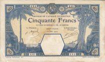 Banque de l´Afrique Occidentale 50 Francs Grand-Bassam - 12/06/1924