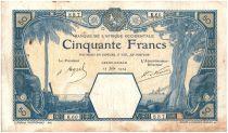 Banque de l´Afrique Occidentale 50 Francs Grand-Bassam - 1924