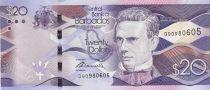 Barbade  20 Dollars, S.J. Prescod - Parlement - 2017