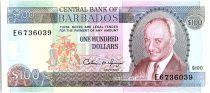 Barbade 100 Dollars, Sir Grantley Adams - Trafalgar square - 1989