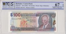 Barbade 100 Dollars Sir G.H. Adams - 2000  - PCGS 67 OPQ