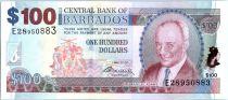 Barbade 100 Dollars Sir G.H. Adams - Trafalgar Square - 2009