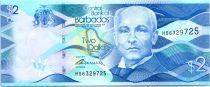 Barbade 2 Dollars, J.R. Bovell - Moulin - 2013