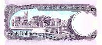 Barbade 20 Dollars, S.J. Prescod - Trafalgar square - 1988
