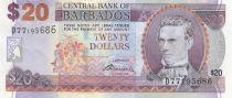 Barbade 20 Dollars Samuel Jackman Prescod - Pont - 2007 (2009)