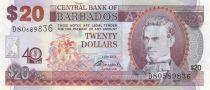 Barbade 20 Dollars S.J. Prescod - 40 ans de la Banque - 2012 - Neuf - P.72