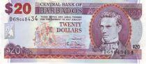 Barbade 20 Dollars S.J. Prescod - Trafalgar Square