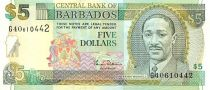 Barbade 5 Dollars Sir F. Worrell - Trafalgar Square
