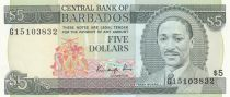Barbade 5 Dollars Sir Frank Worrell - 1986 - P.37 - Neuf
