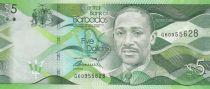 Barbade 5 Dollars Sir Frank Worrell - Batiment - 2013
