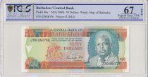 Barbade 50 Dollars E.W. Barrow - 1989 - PCGS 67 OPQ