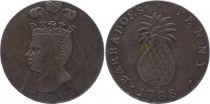 Barbade Tn.5 1 Penny, Chef Indien, Ananas - 1788