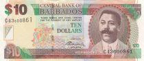 Barbados 10 Dollars C.D. O\'Neal - Trafalgar Square - 2012