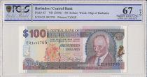 Barbados 100 Dollars G.H. Adams, Trafalgar Square  - 2000  - PCGS 67 OPQ