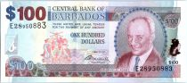 Barbados 100 Dollars Sir G.H. Adams - Trafalgar Square - 2009