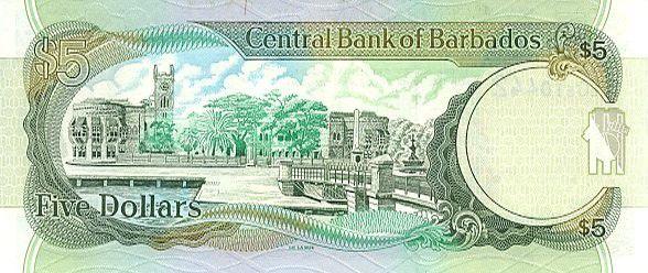 Barbados 5 Dollars 5 Dollars