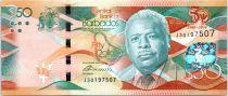 Barbados 50 Dollars Errol Barrow - 50 años de la Independencia 1966-2016