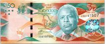 Barbados 50 Dollars Errol Barrow - 50th year of Independence 1966-2016