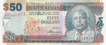 Barbados 50 Dollars E.W. Barrow - Trafalgar Square - 2007 (2009)