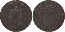 Barbados Tn.5 1 Penny, Indian Chief, Ananas -1788