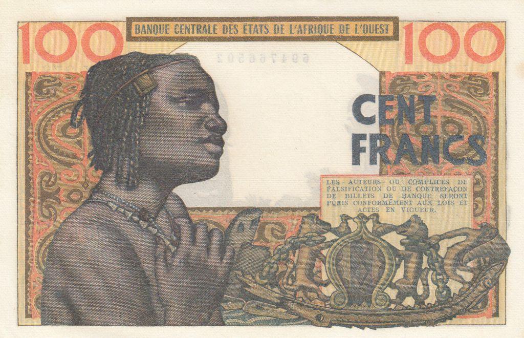 BCEAO 100 Francs masque 1959 - Série Y.278
