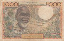 BCEAO 1000 Francs fleuve 1961 - Série F.41